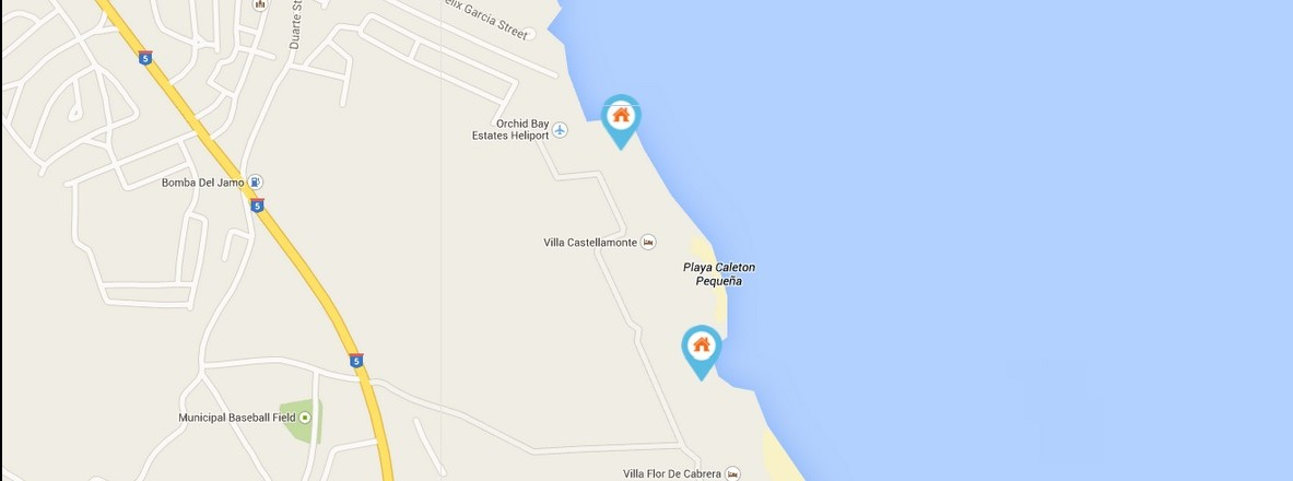 amber coast map