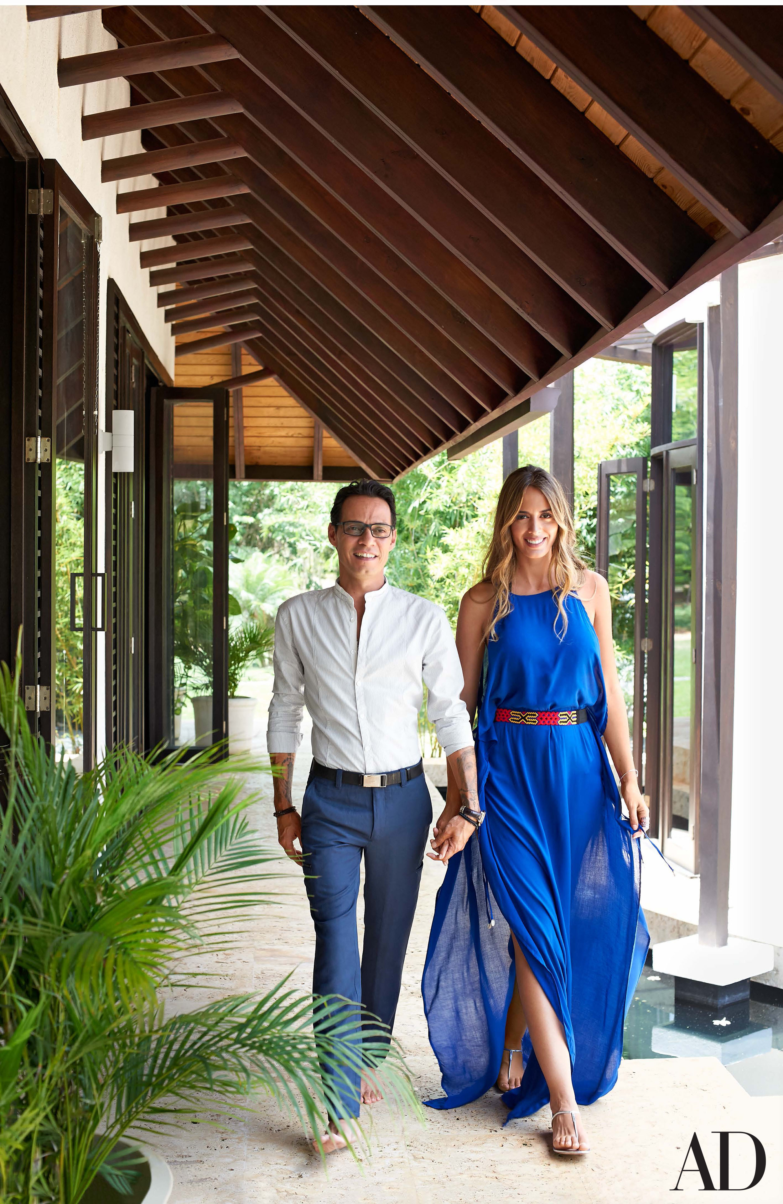 Marc anthony and shannon de lima mu iz create an oasis in - Architectural digest celebrity homes 2016 ...