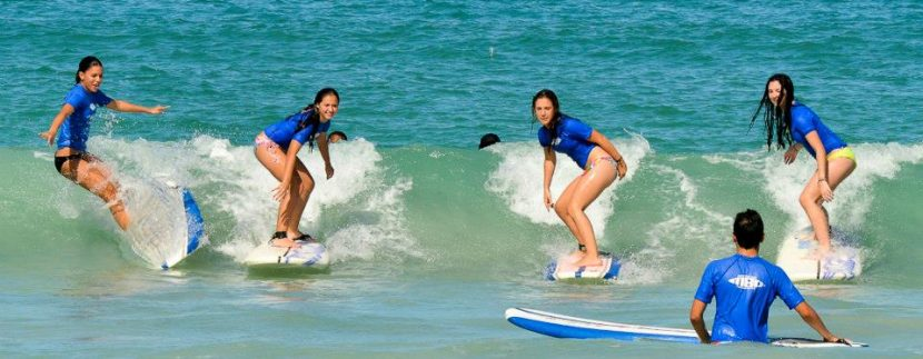 Learn to surf at Macao