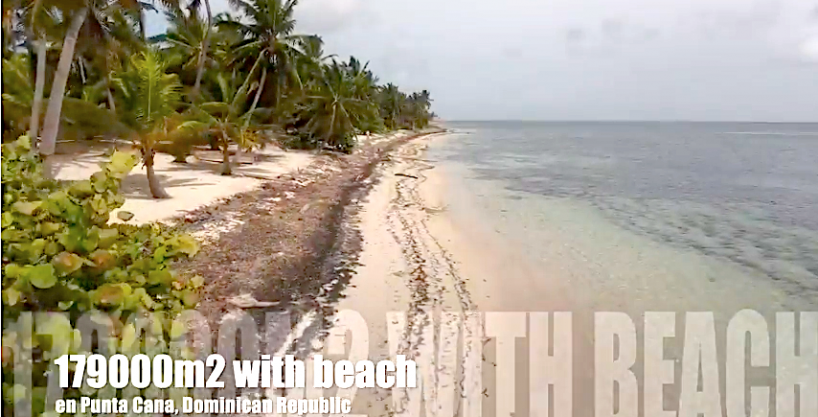 Back to the Market! 44.25 acres or 179,000 m2 Beach Lot for sale at Punta Cana