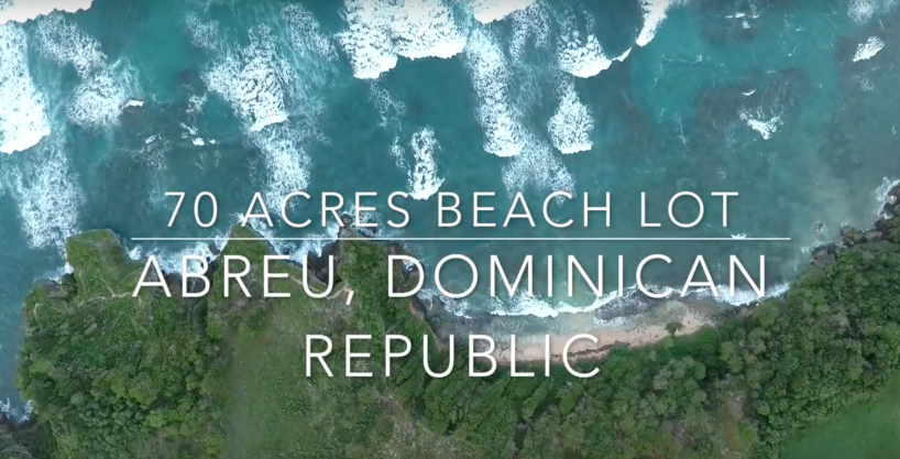 70 acres Beach Lot at Abreu, Perfect for a Seaside Community or an Exotic Hotel