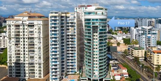 Moderno Apartamento en Piso 17, Torre PHU con espectaculares Vistas al Mar