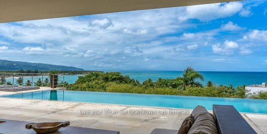 Contemporary Hillside 9 Beds 360 Ocean Views to Playa Bonita