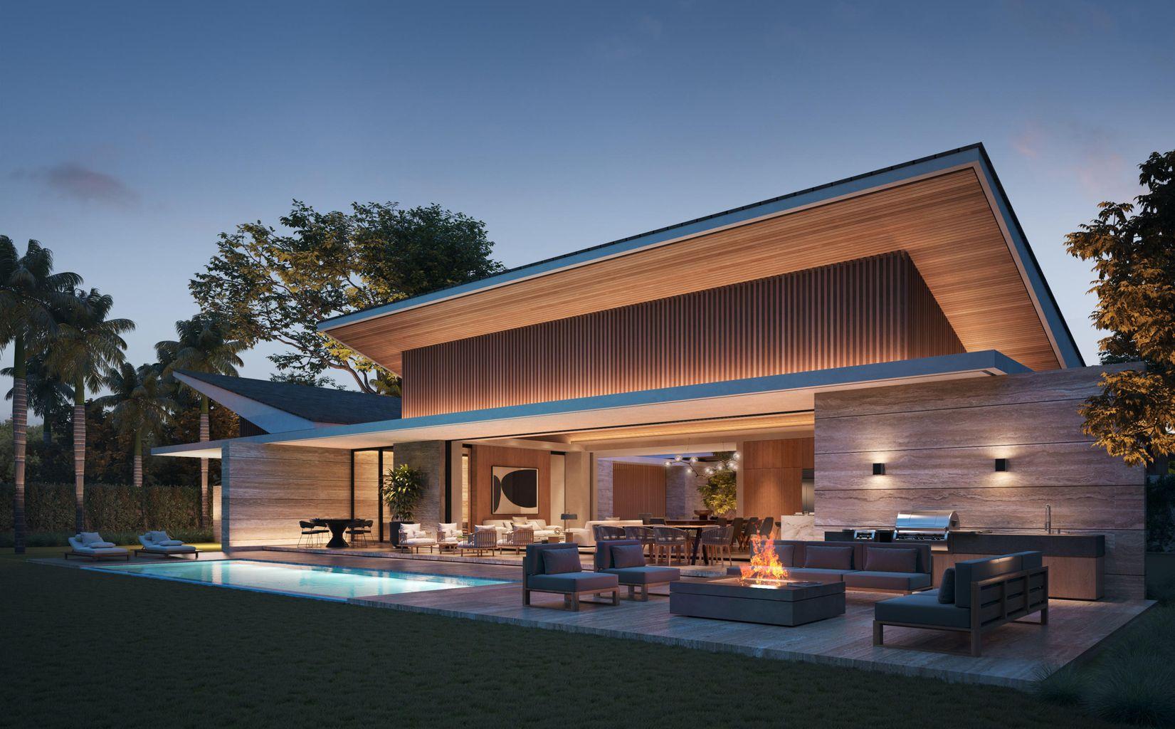Modern New Villa at Flamboyanes nestled between 2 park – Ready by Autumn 2022