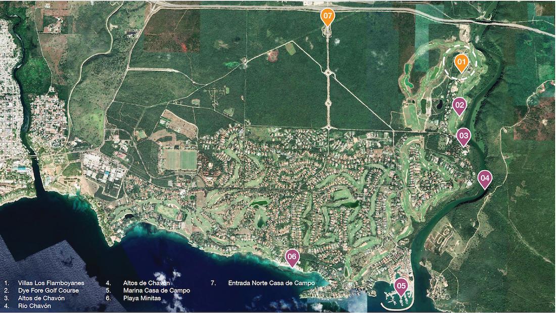 Location at Casa de Campo