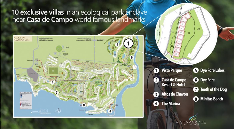 Mapa Vistas del Parque